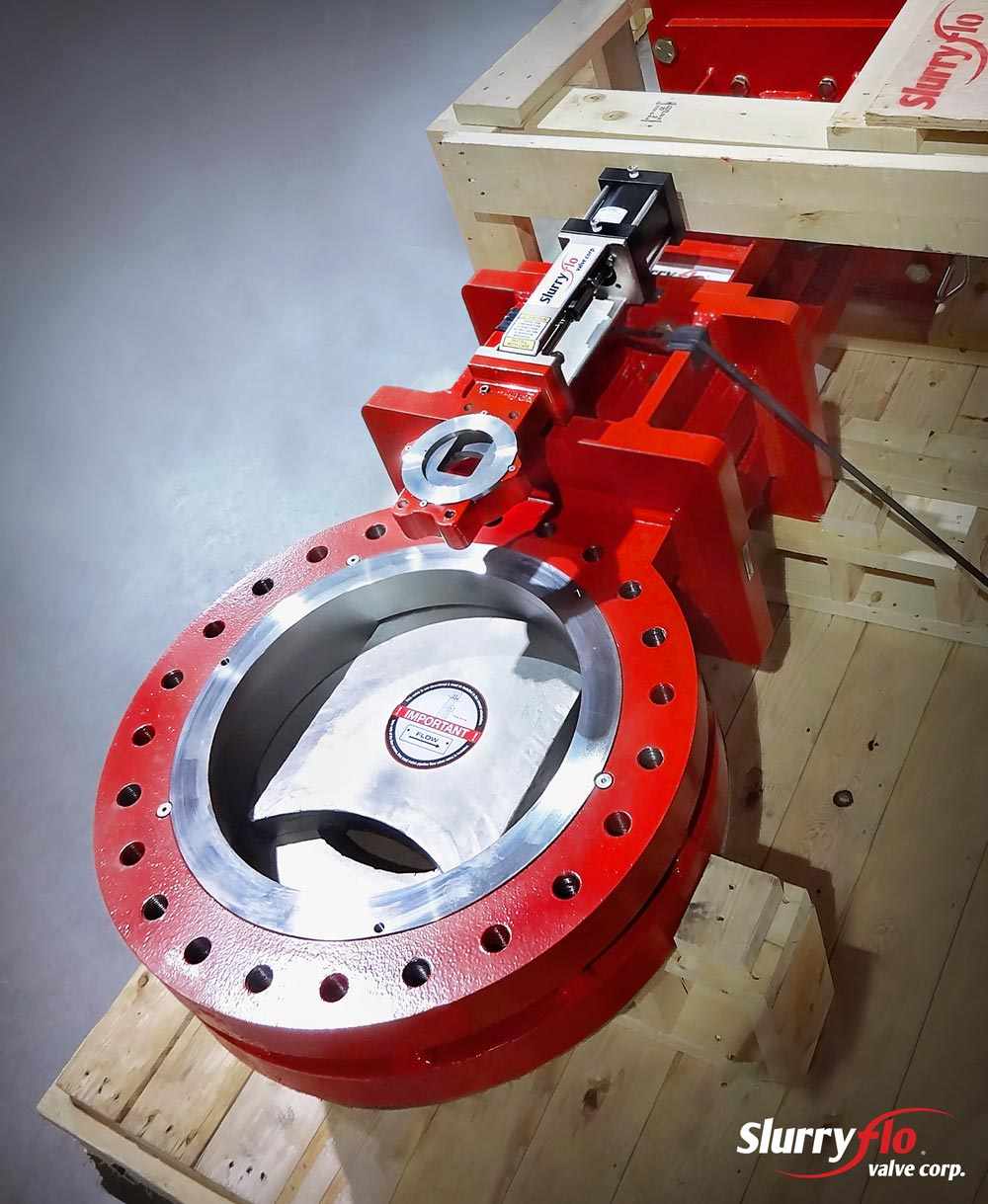 SlurryFlo Control Valves come in all diameters and sizes.