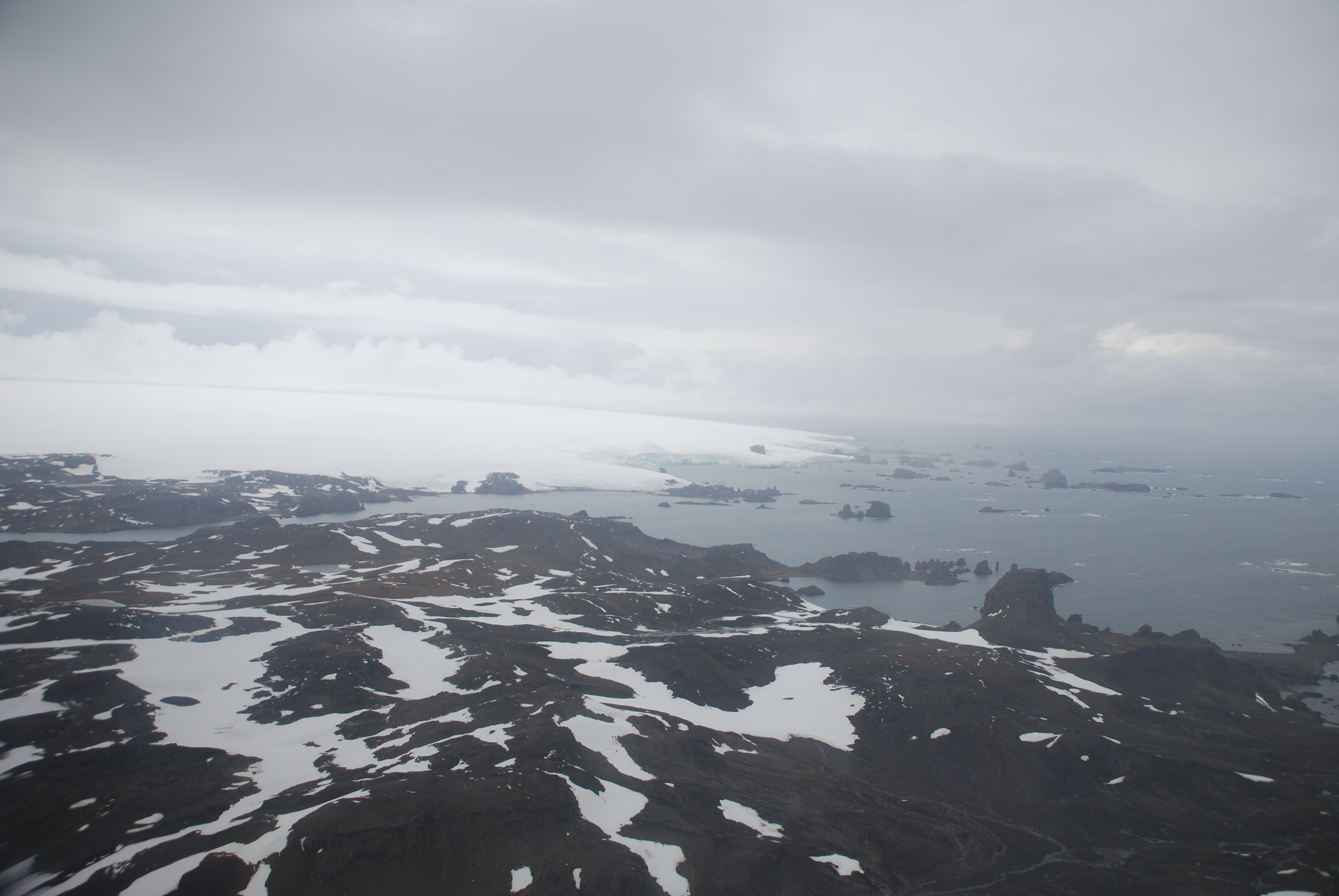 View of Antarctica from plane
