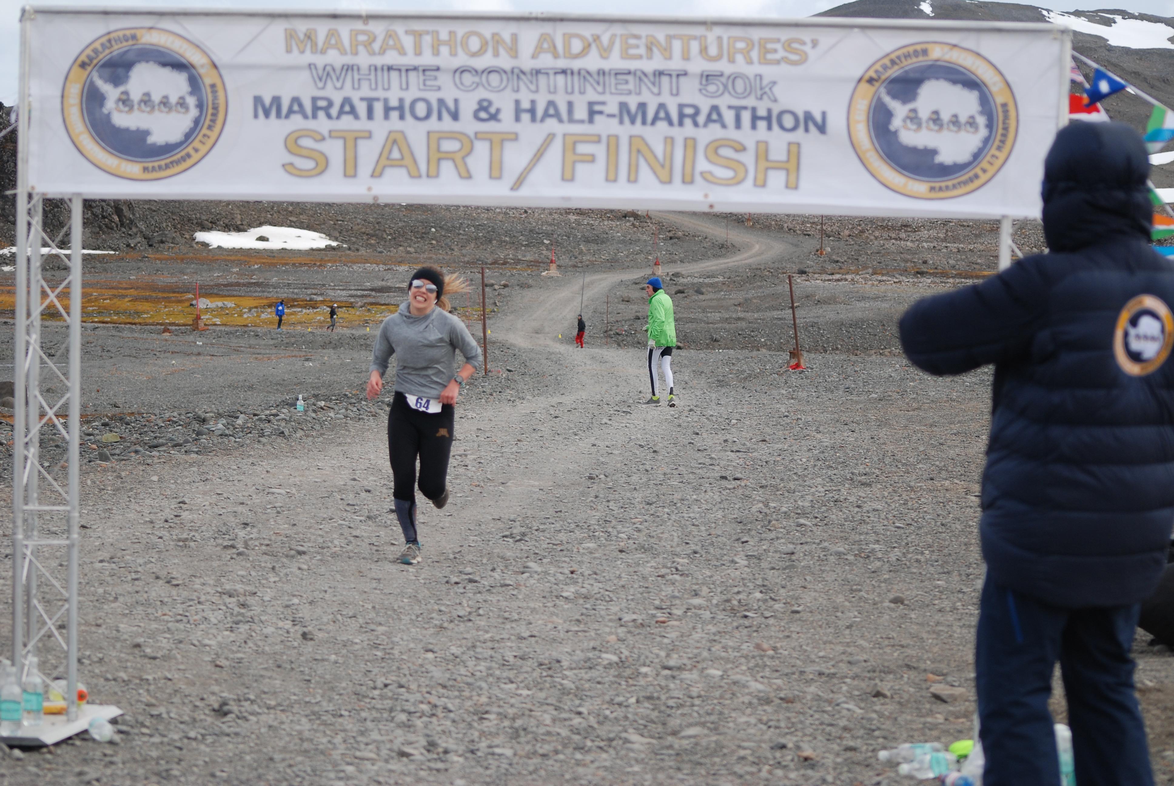 Antarctica marathon finish