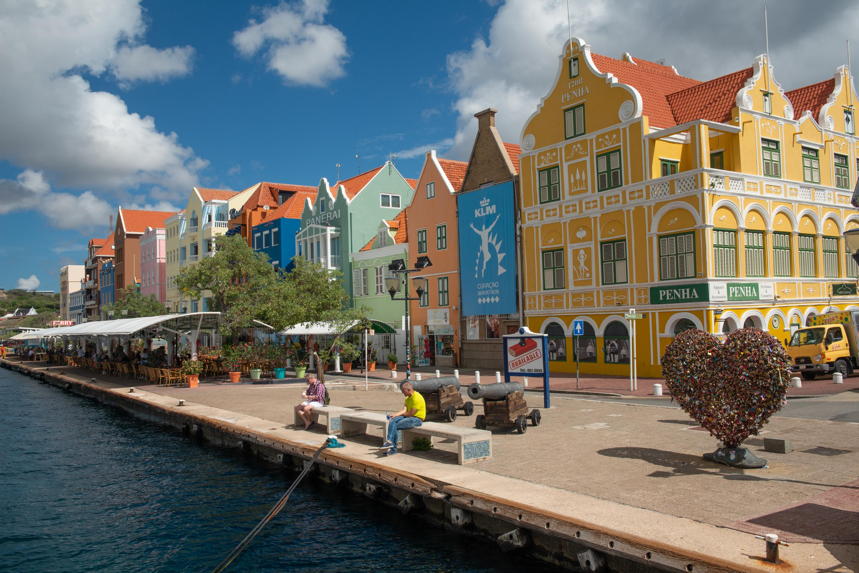 Downtown Willamstad in Curacao
