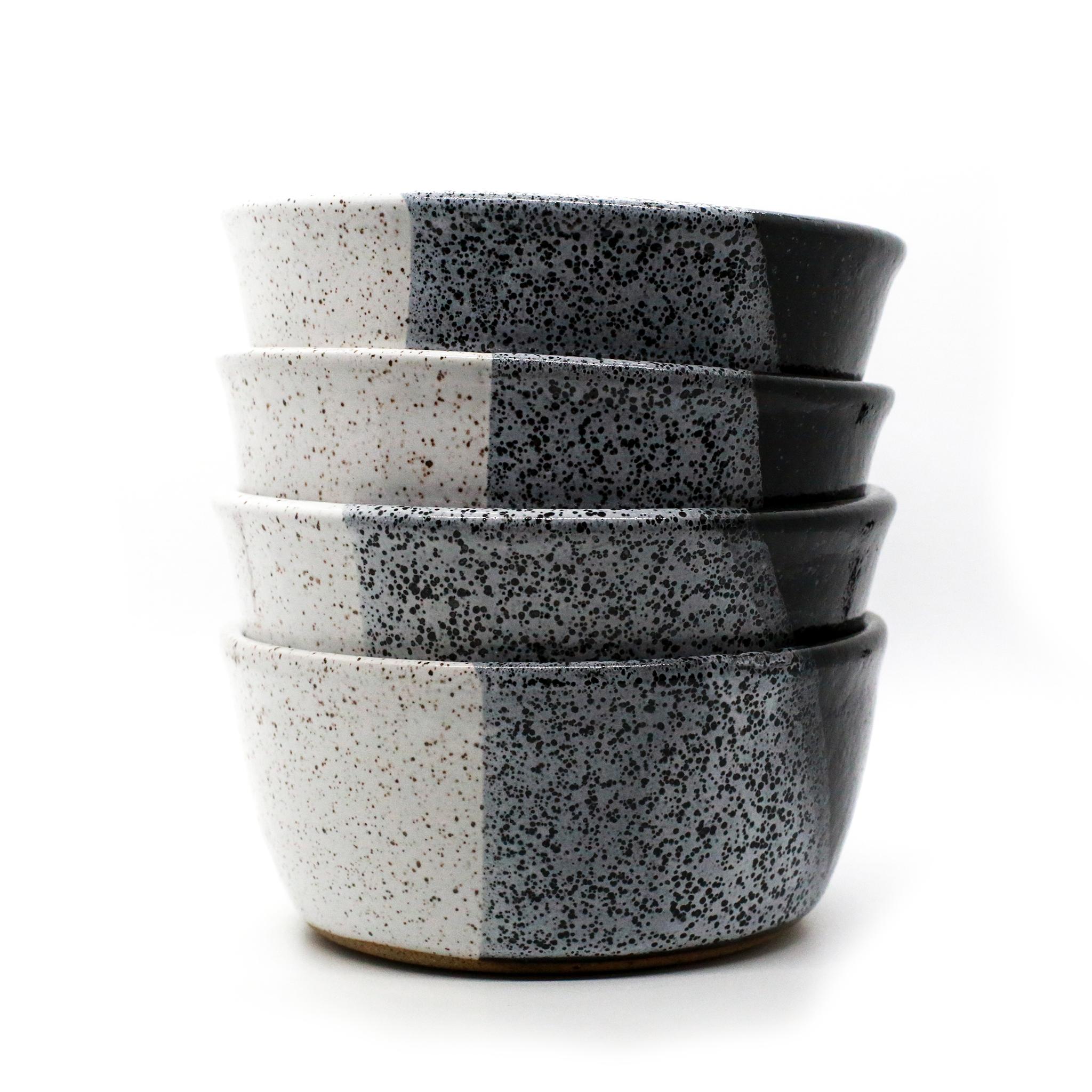 Black & White Cereal Bowls (4)