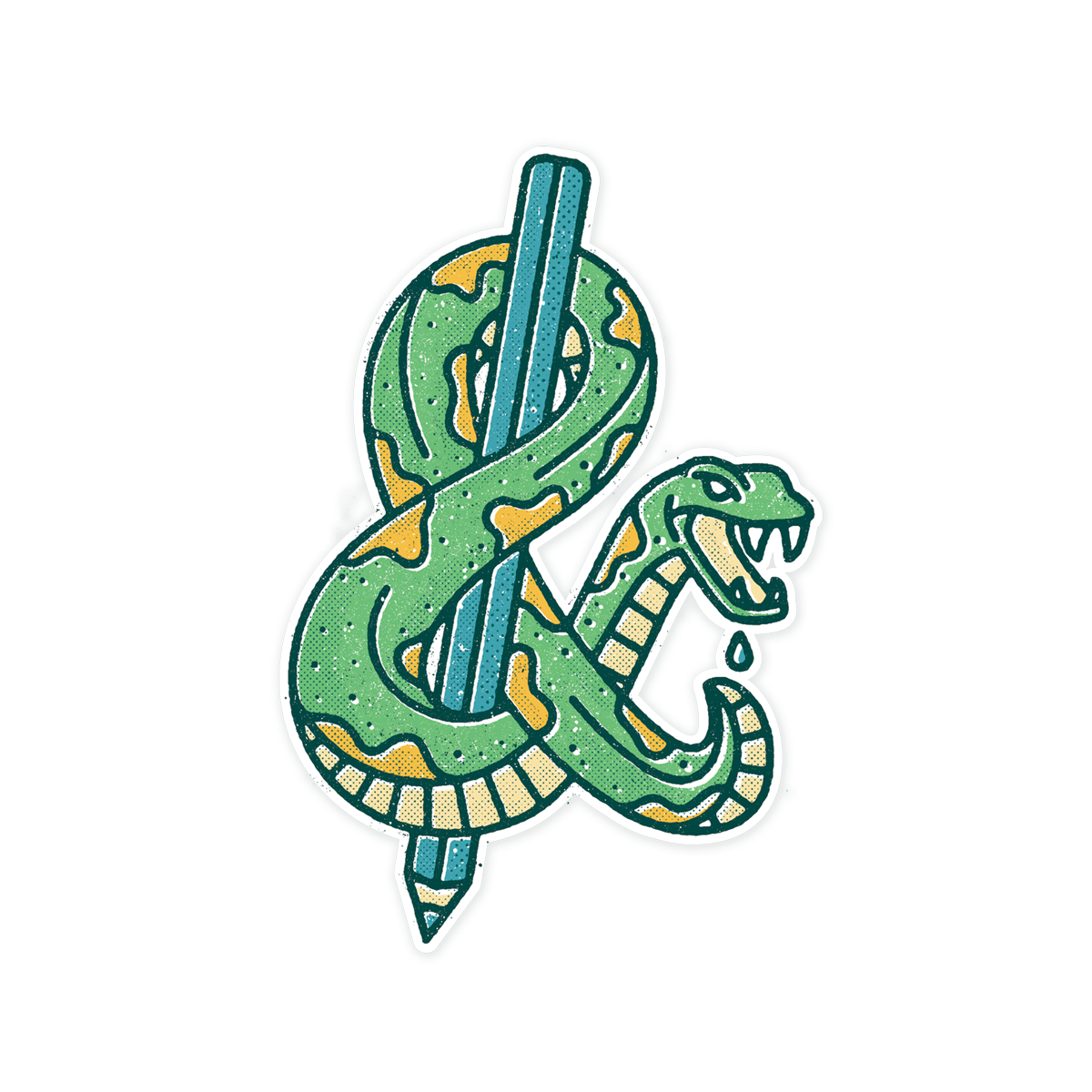 Ampersnake Sticker