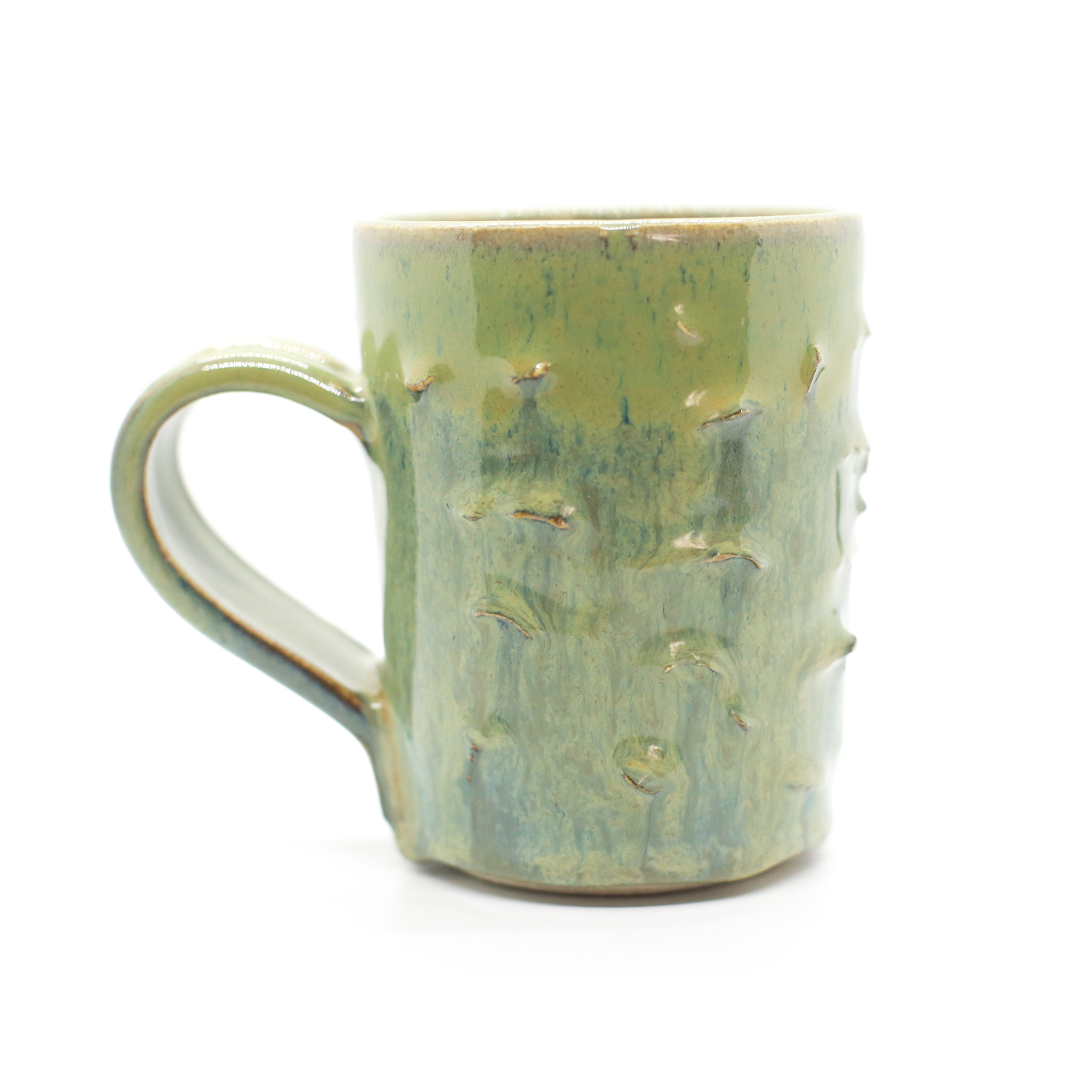 Green Textured Mug