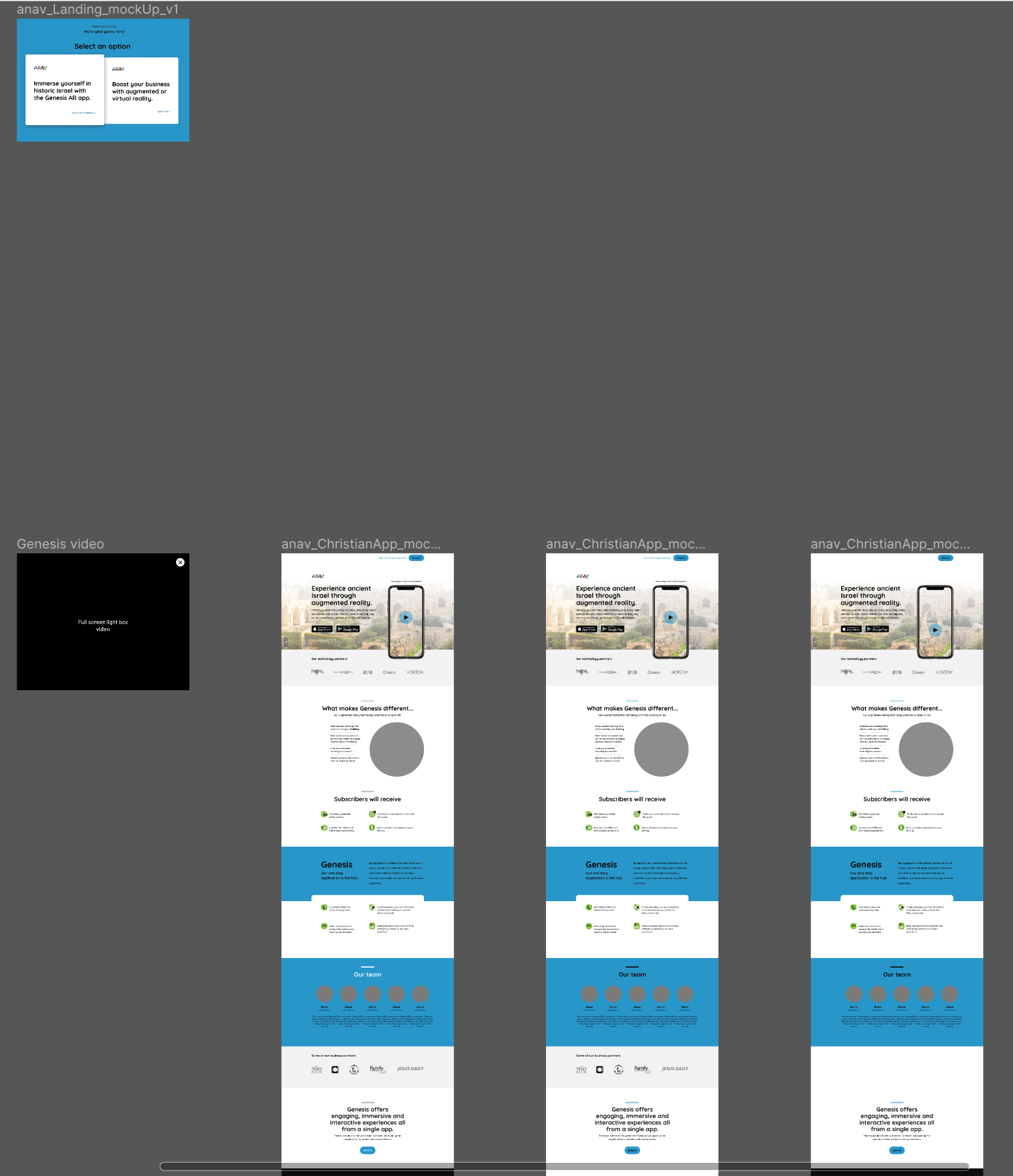 Initial visual design