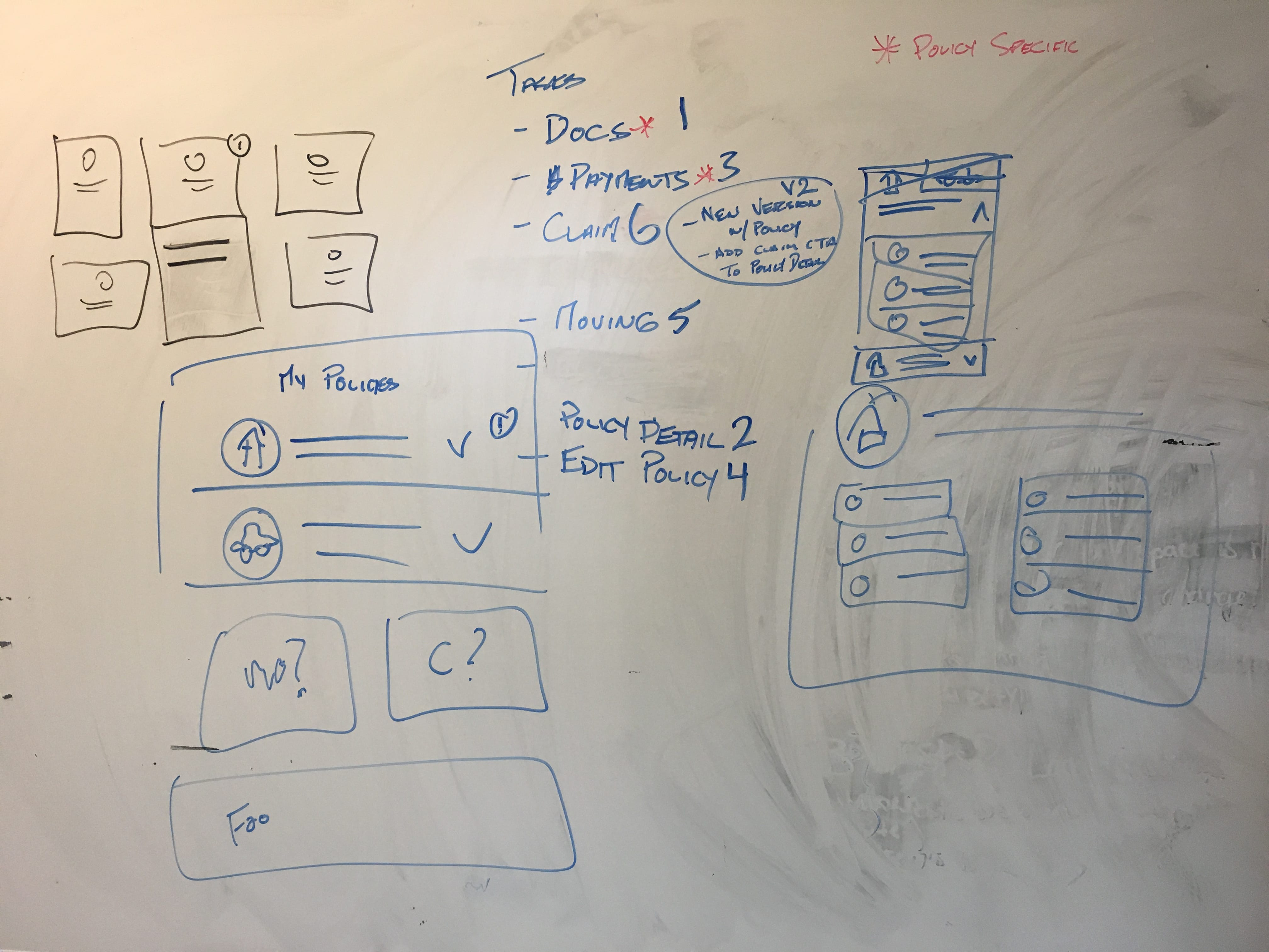 customer onboarding: sketching exercise results