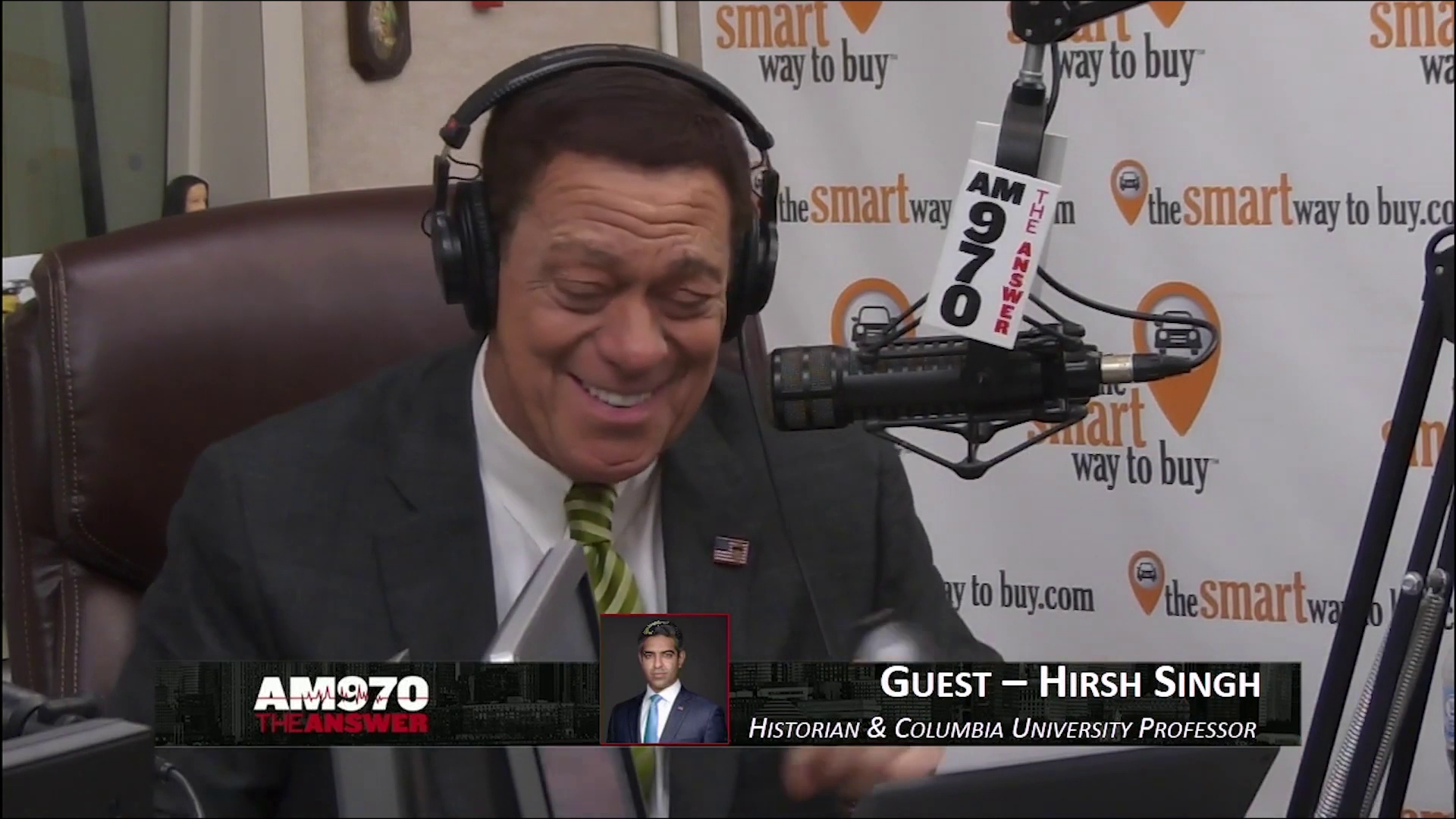 """Hirsh Singh on AM 970 """"The Answer"""" with Joe Piscopo"""