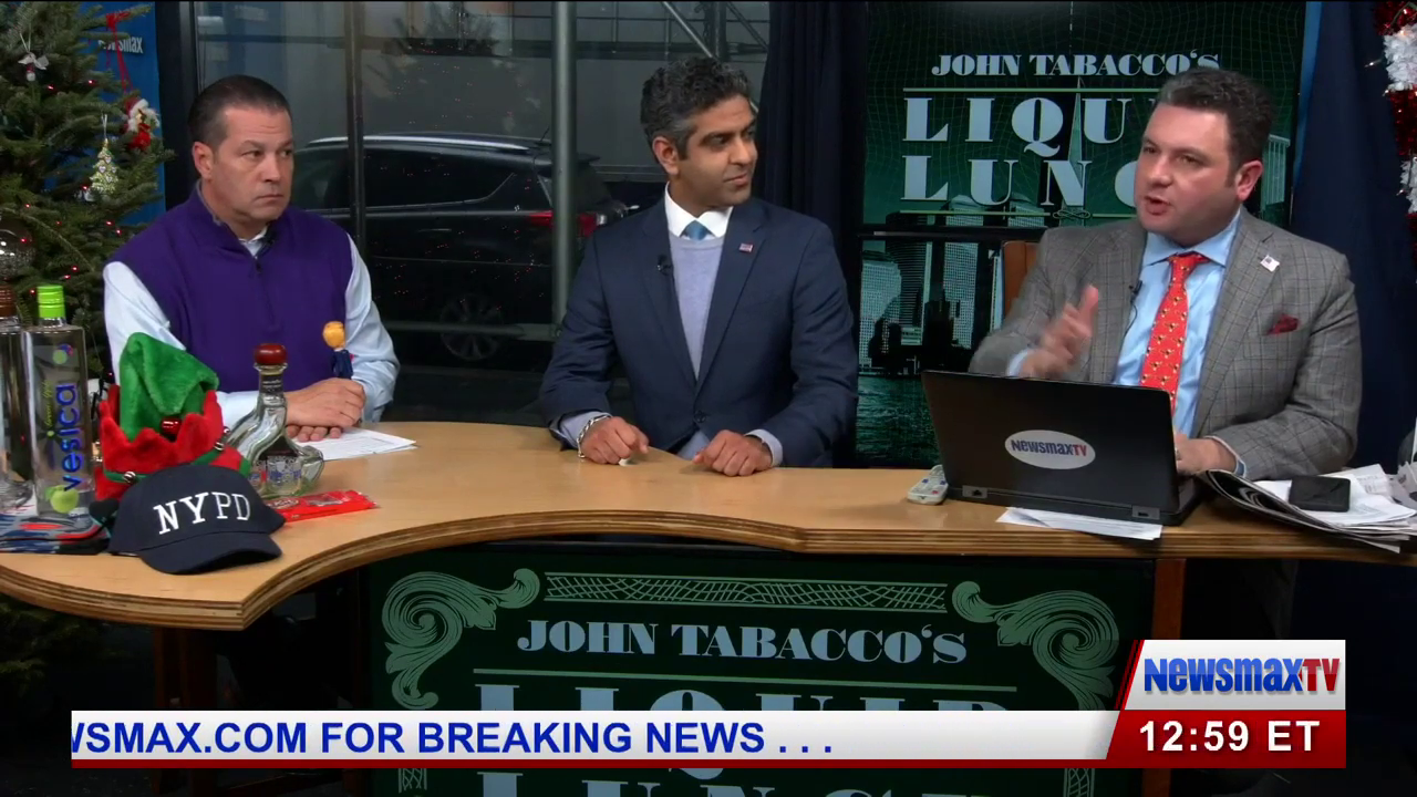 """Hirsh Singh interview with Newsmax's """"Liquid Lunch"""" featuring John Tabacco"""