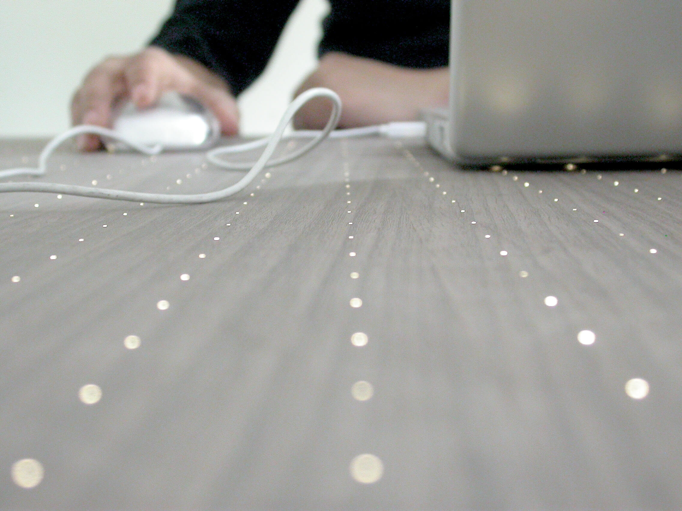 Fiber optic desk