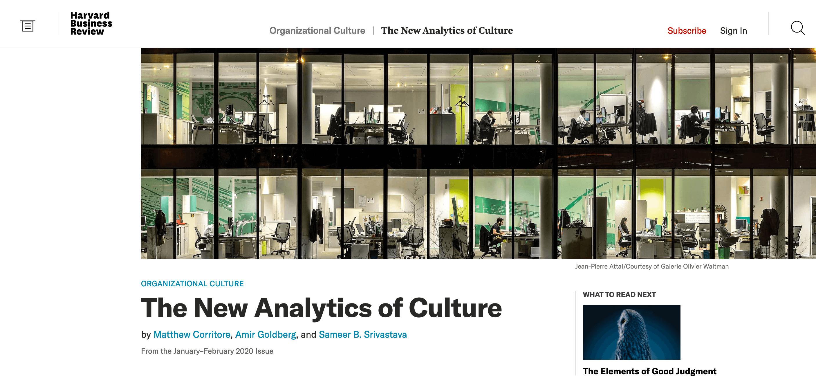Culture Analytics