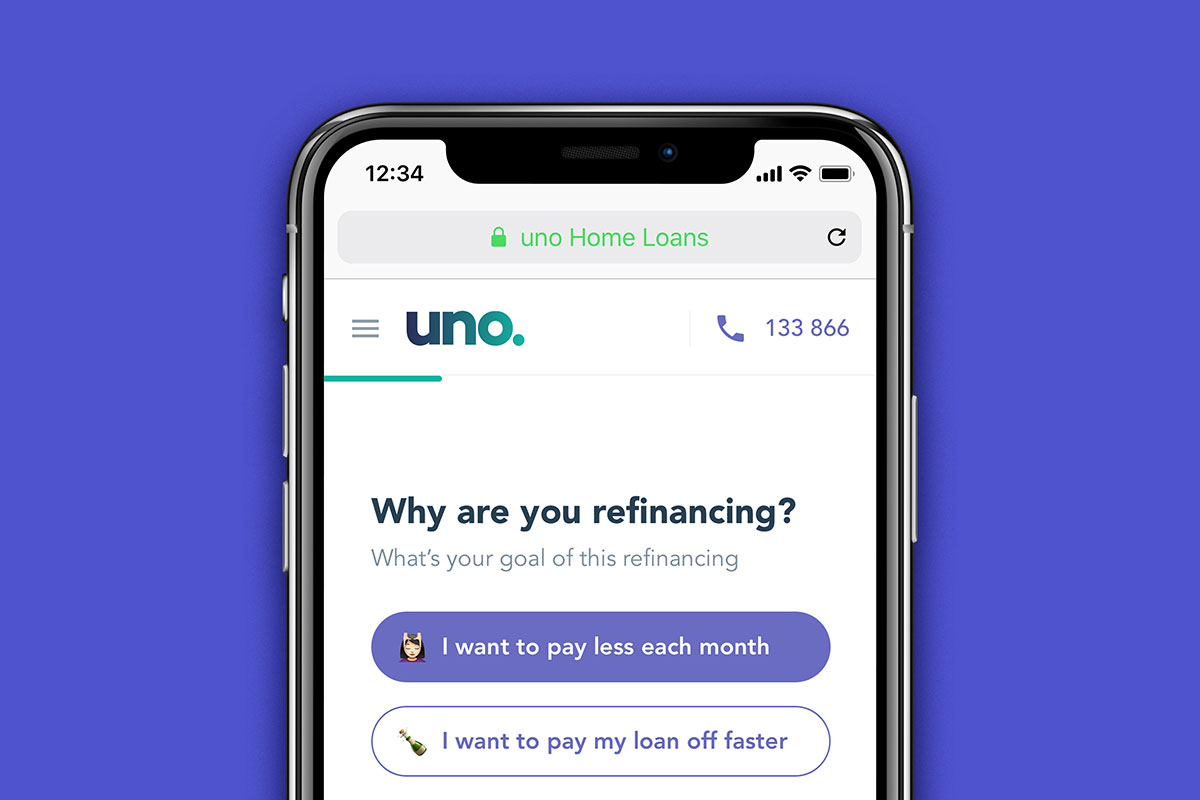 uno. home loans refinance experience