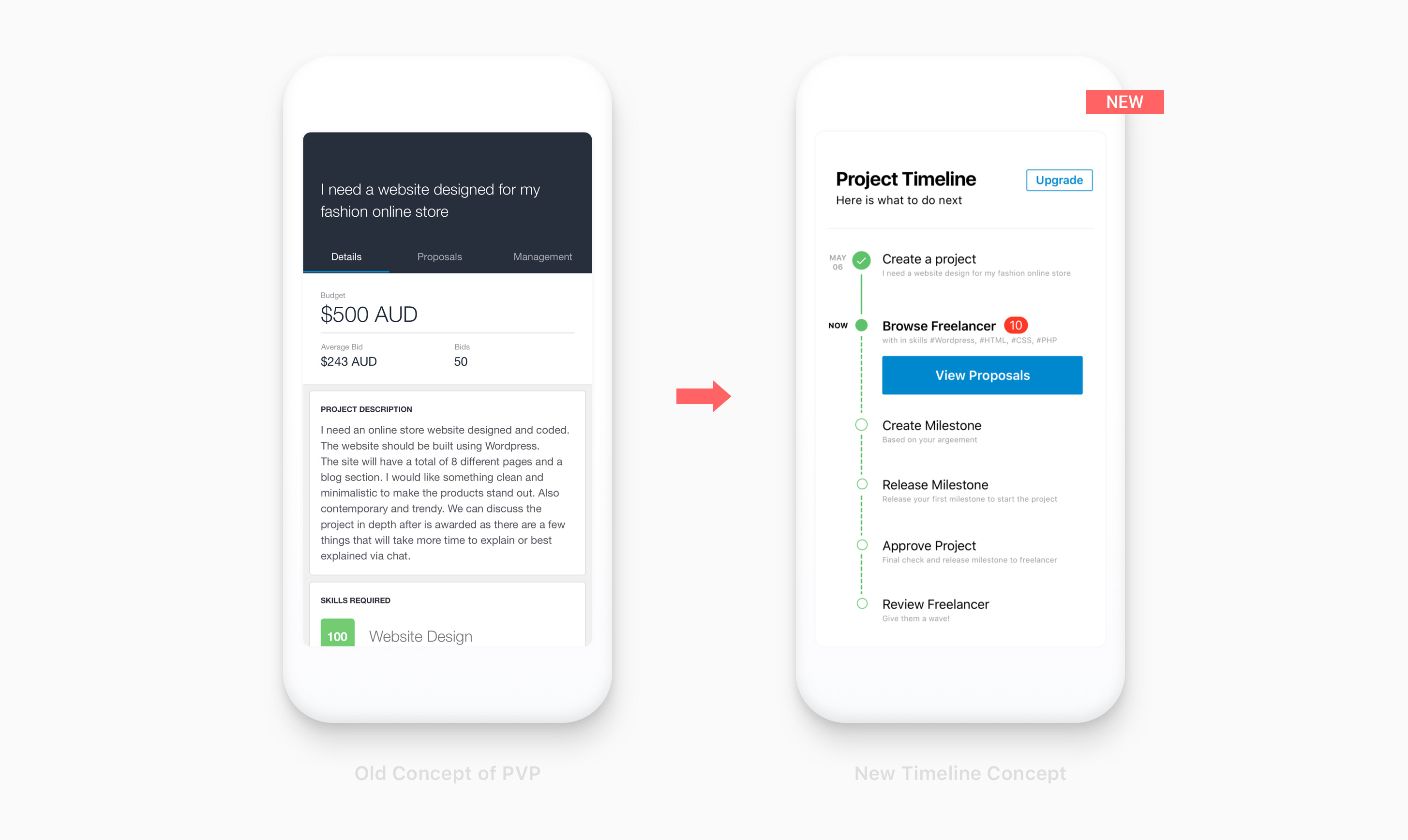Freelancer Mobile App Design
