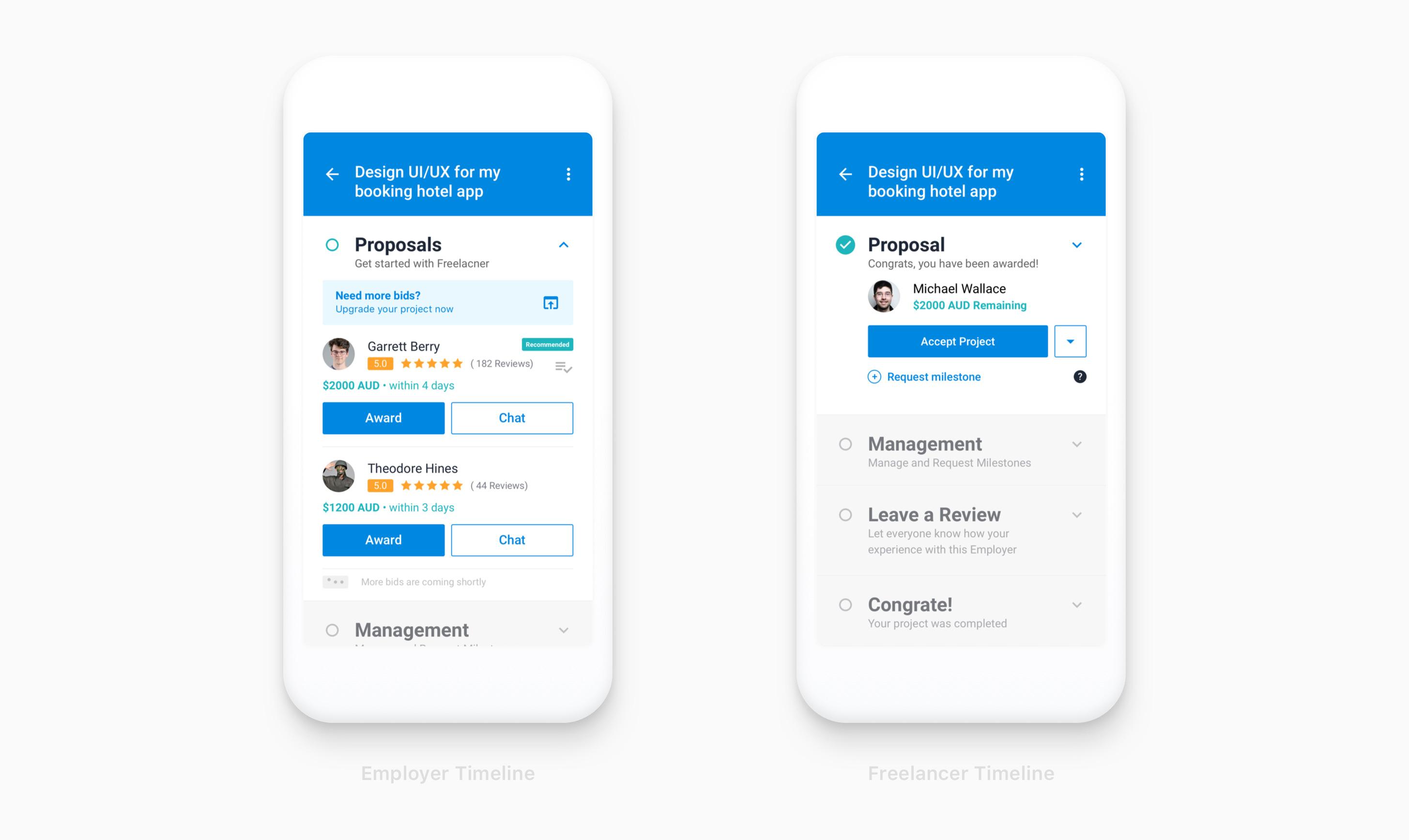Freelancer Mobile App Design