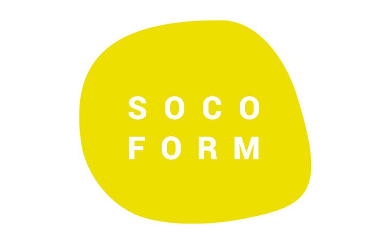 Logo de SOCOFORM, organisme de formation pour infirmières libérales, partenaire de Santé Académie, de couleur jaune sur fond blanc