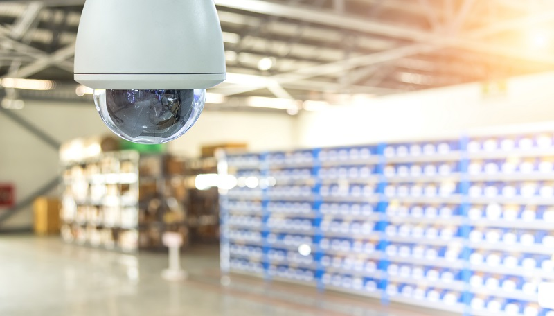 Warehouse security camera