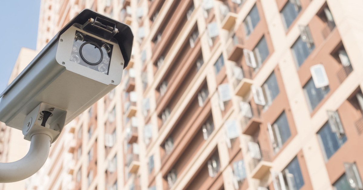 Apartment building security camera networking