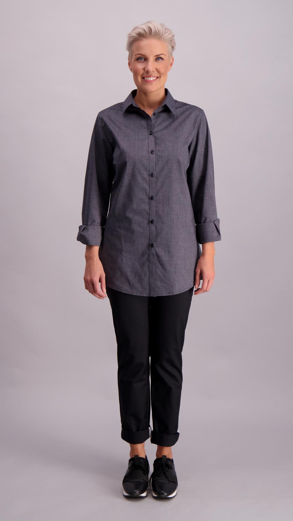 Tiina naisten paitapusero, harmaa