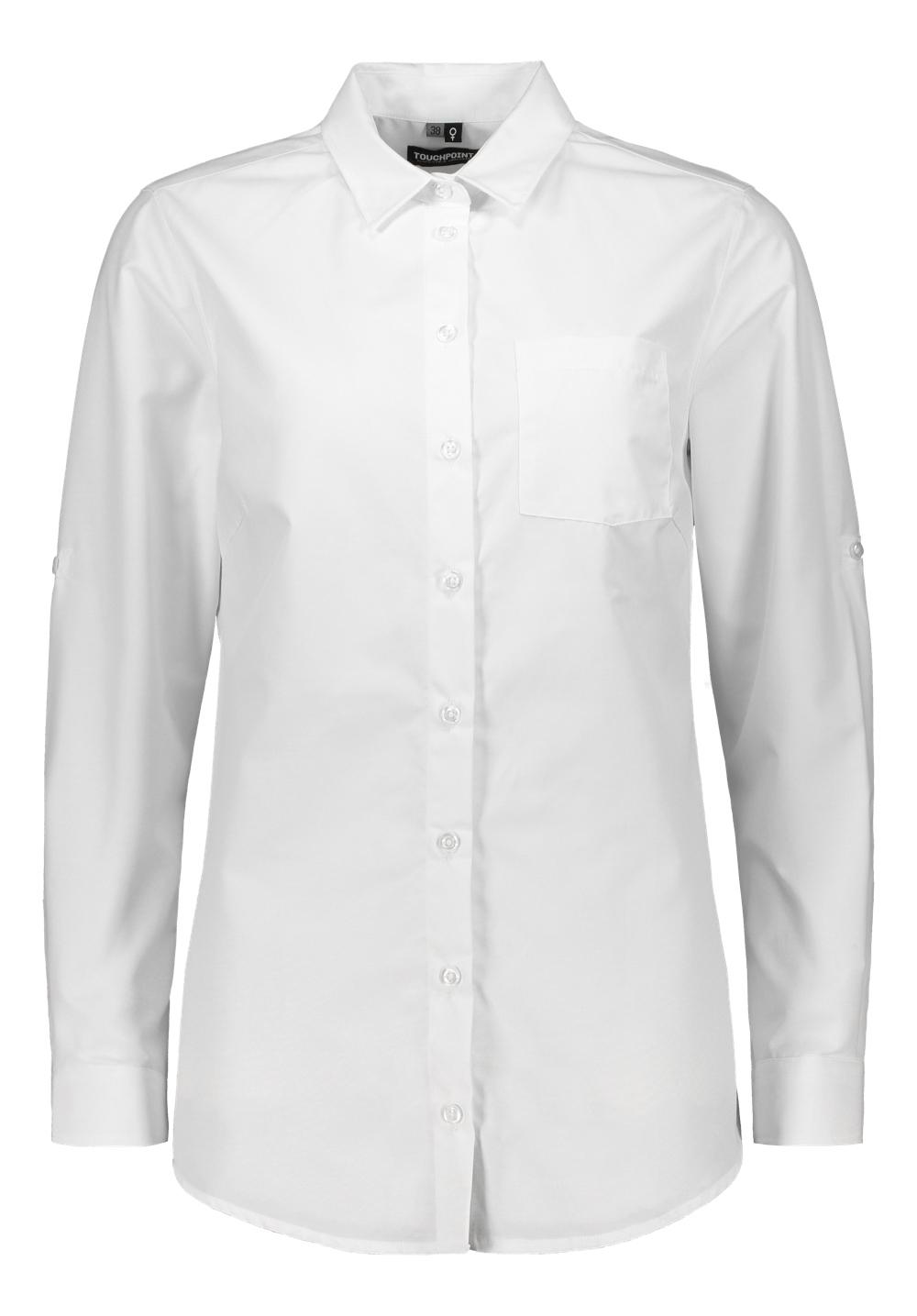 Roosa naisten paitapusero, valkoinen