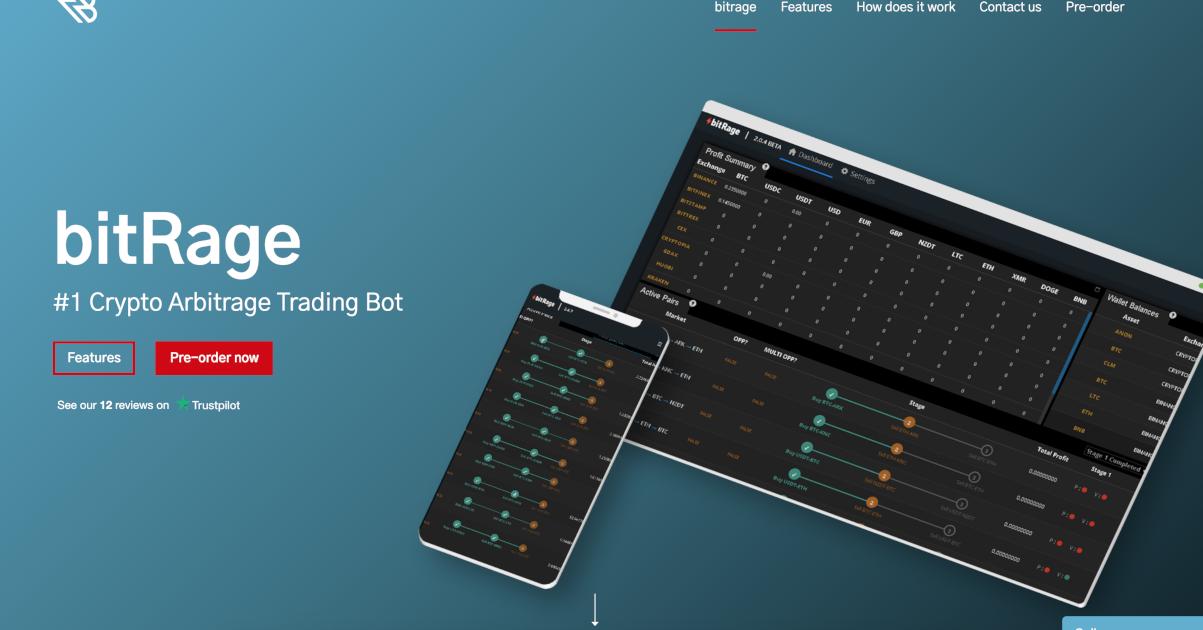 crypto arbitražo bot peržiūra