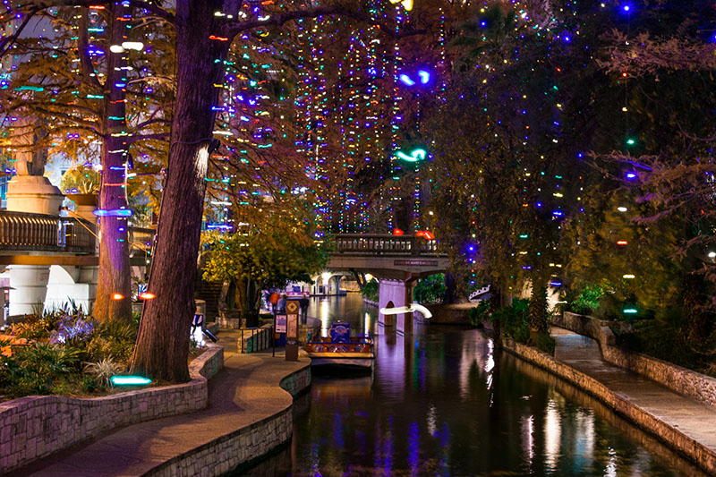 San Antonio Riverwalk at Christmas