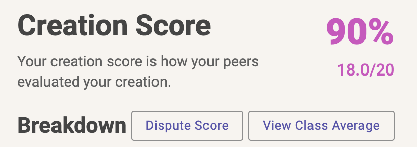 Dispute Score Button