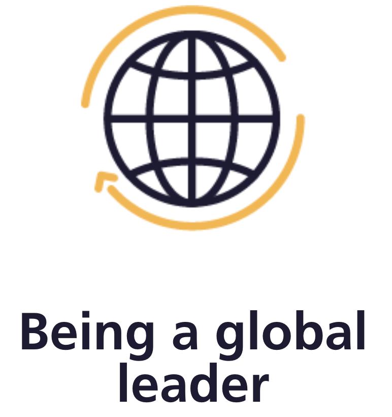 Being a global leader