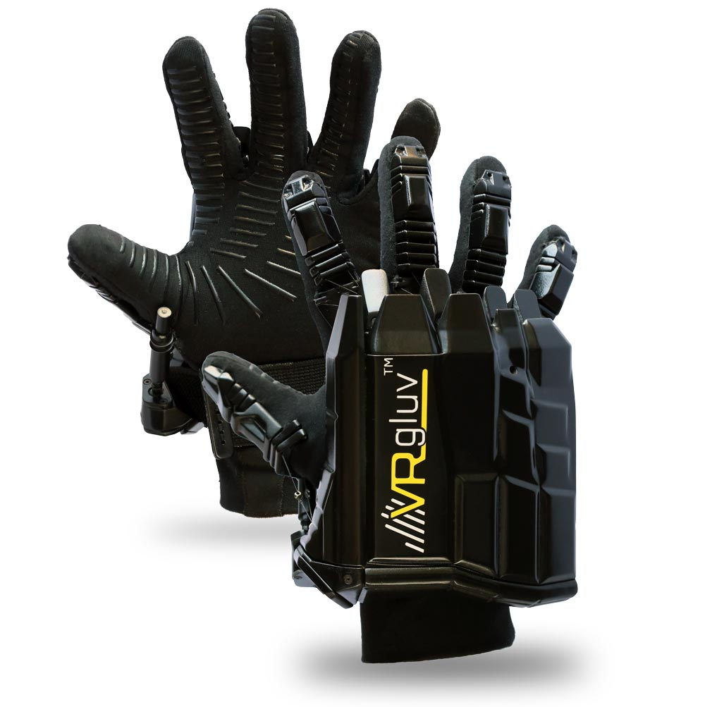 pair of vrgluv haptic gloves
