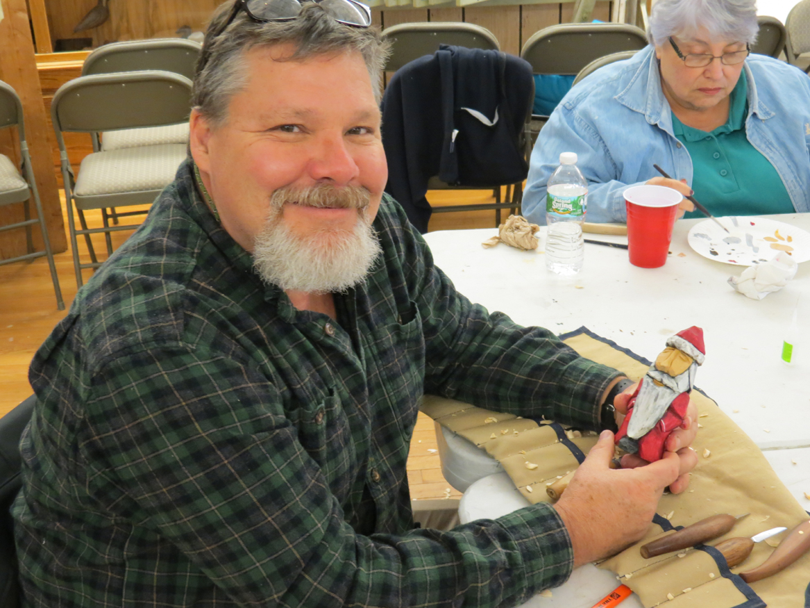 Artist Mark Bair Santa Carving