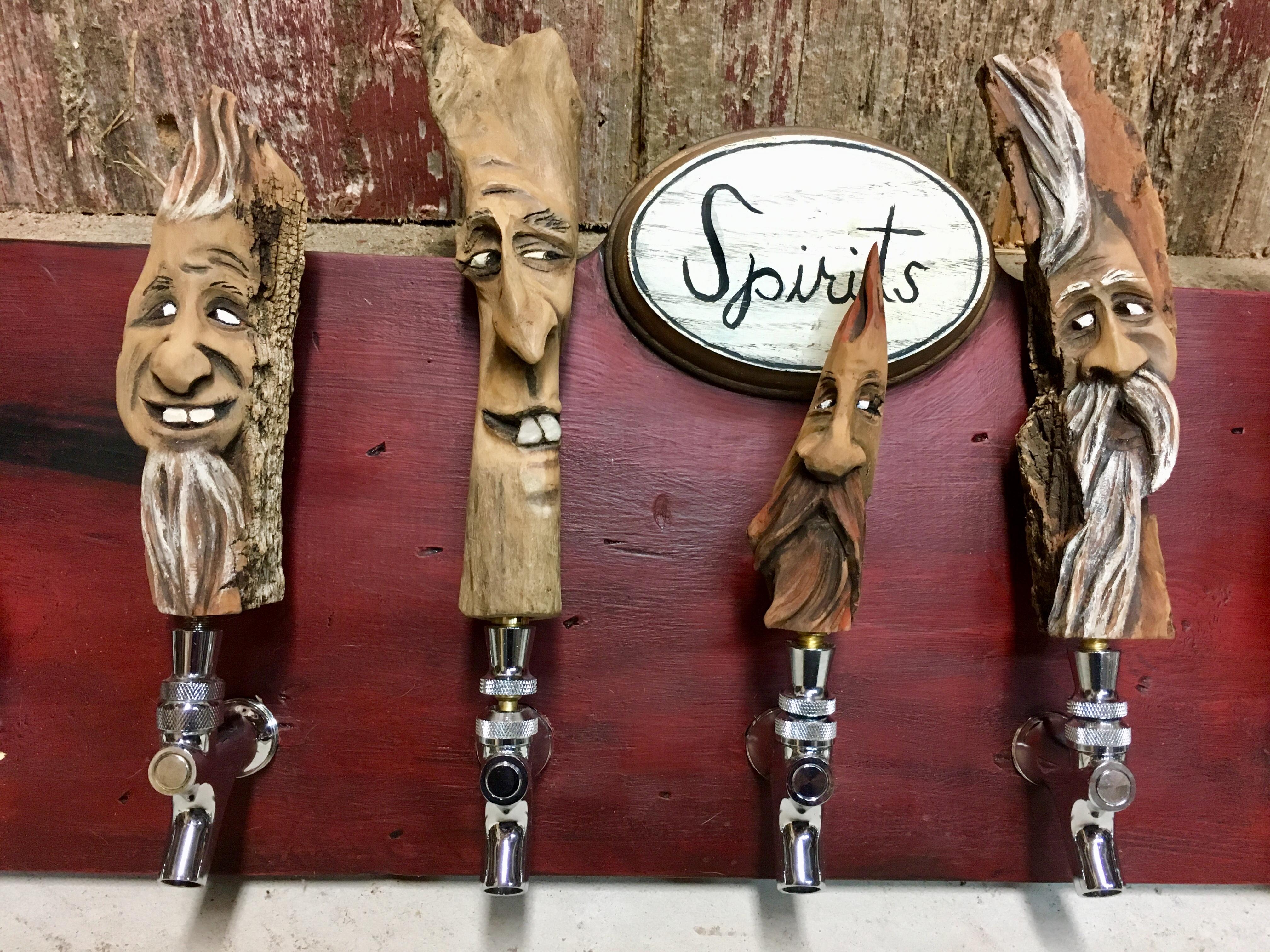 Wood Spirit Carving Beer Tap