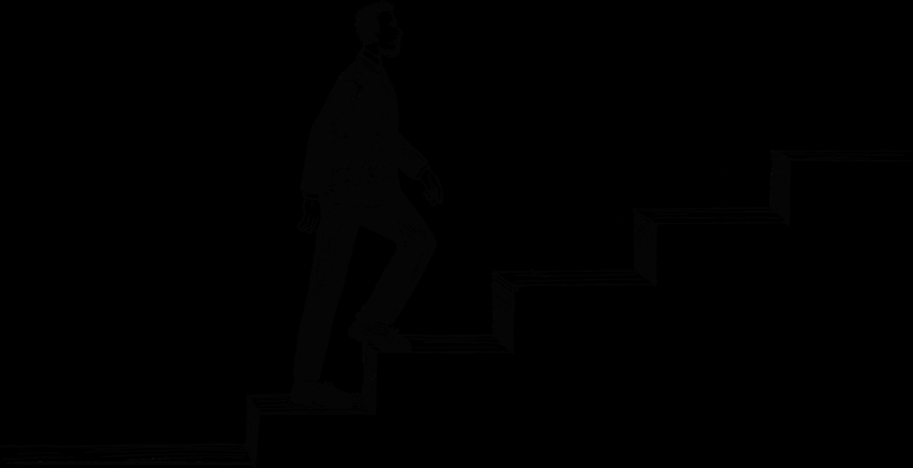 Freelance man walking