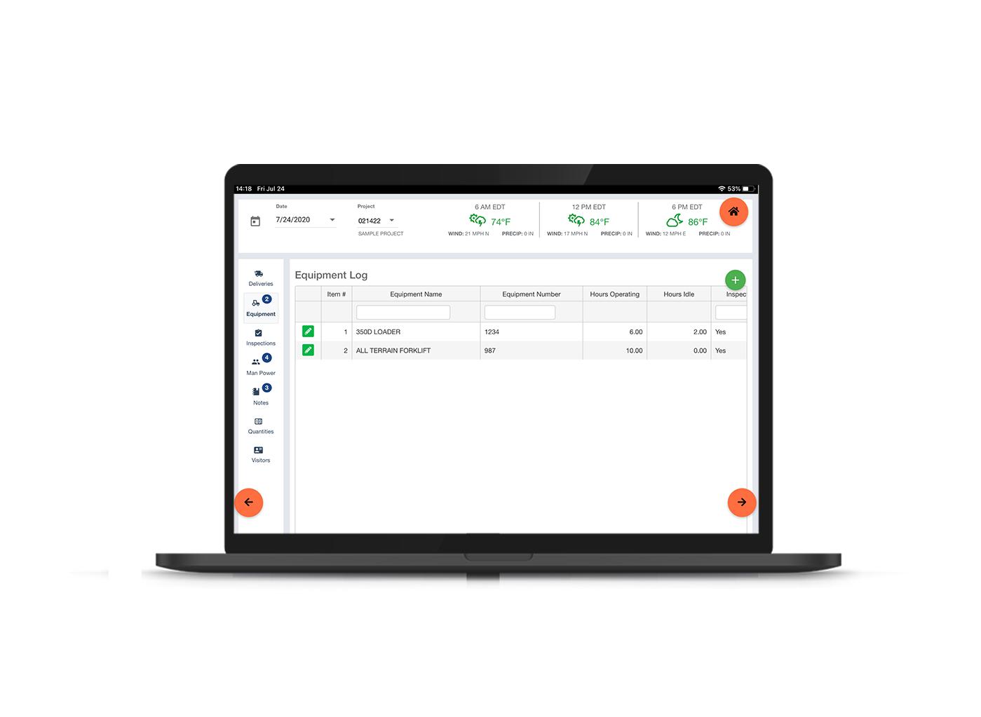 Riskcast's Equipment Tracking Capability