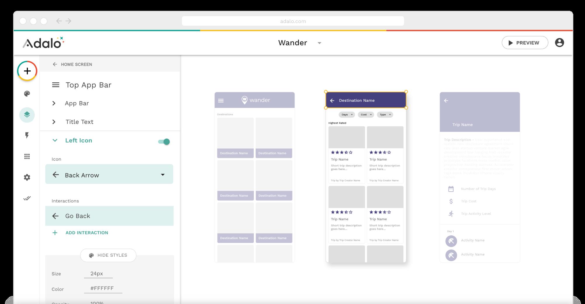 Adalo Platform Screenshot