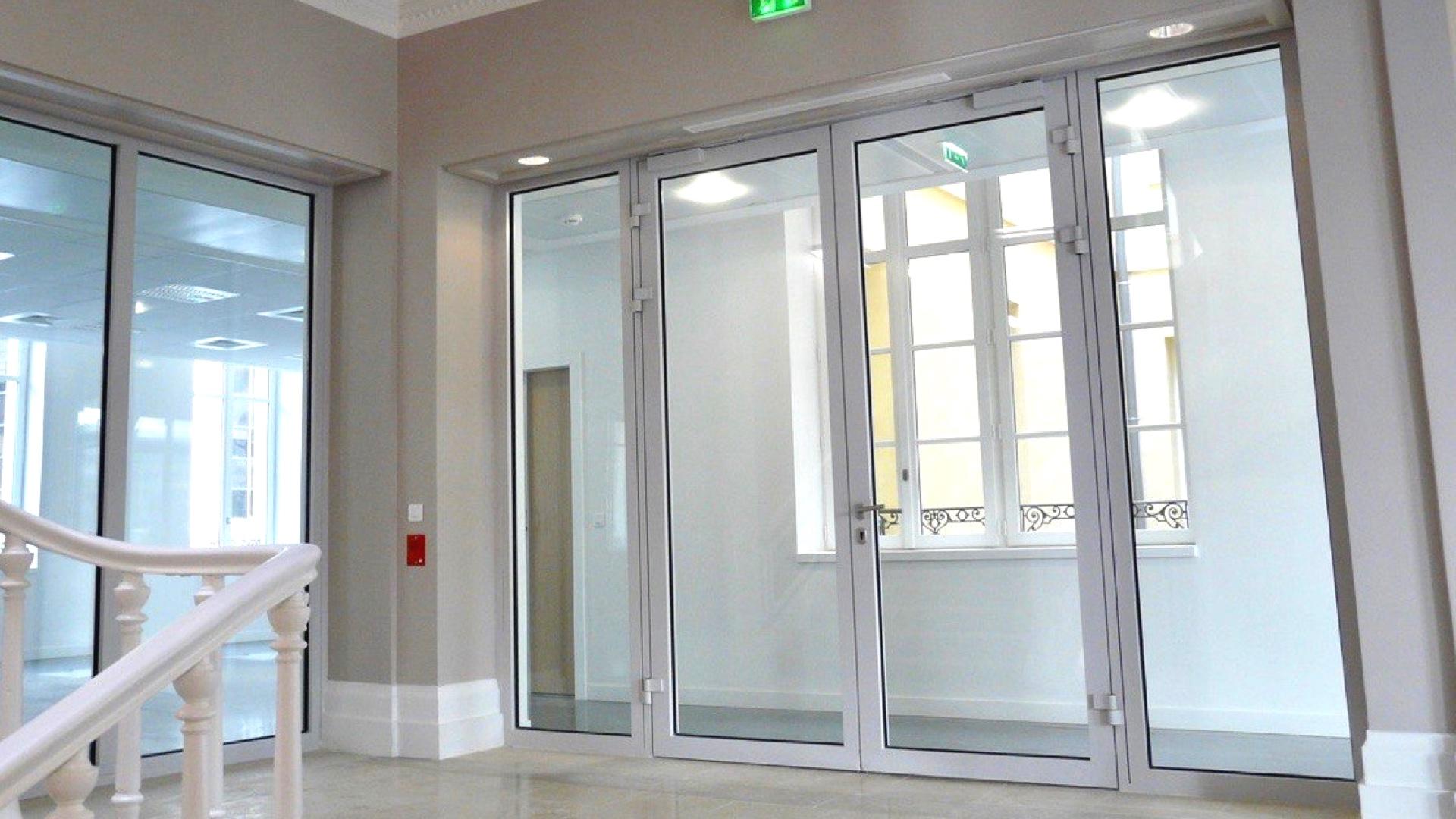 Double Porte Verriere Interieure porte coupe feu vitrée double vantaux aluminium