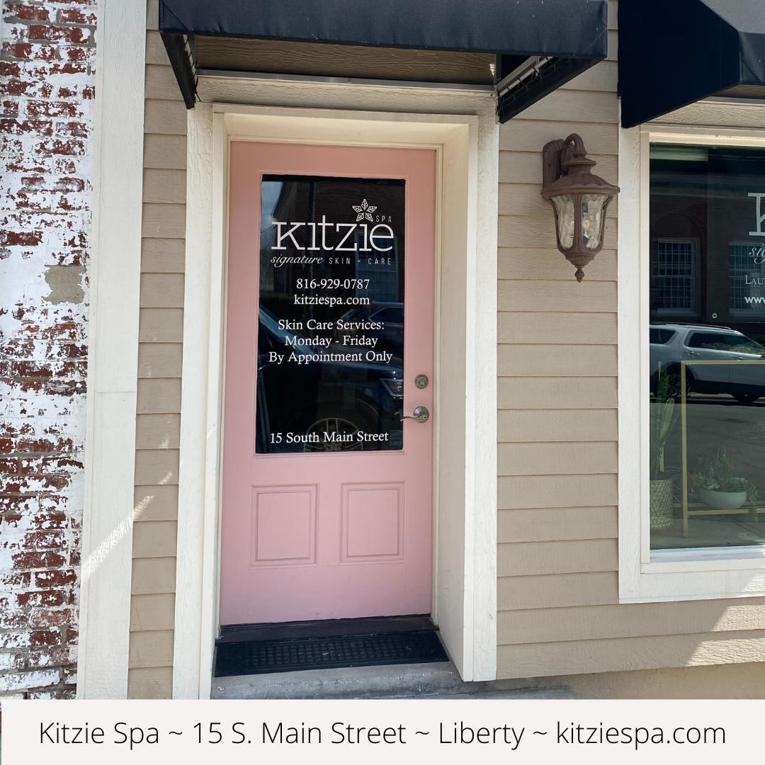 Front door of the skincare shop