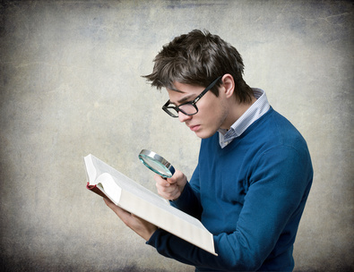 Young student reading