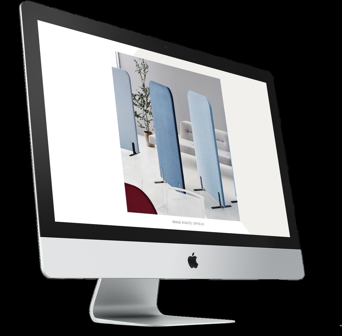 Mockup of HVCO2 document opened on iMac