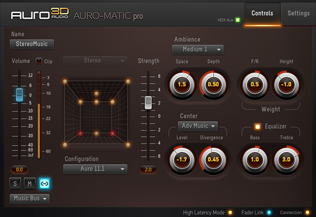 The up-mixing Auro-Matic plugin.