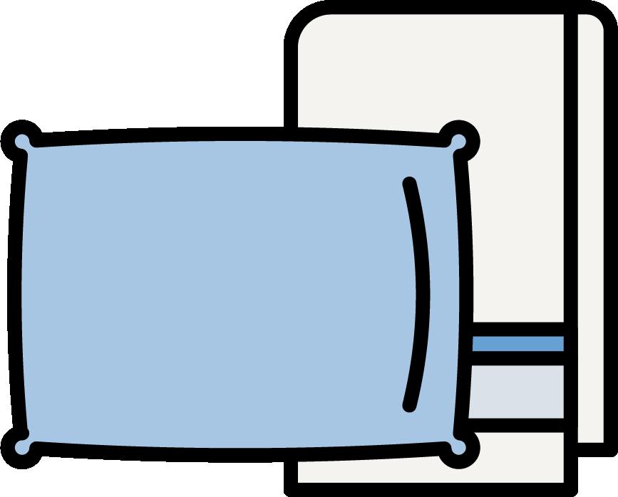 capi casa, lenzuola, federe e spugne