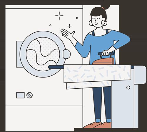 illustrazione stiratrice mamaclean