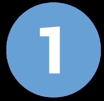 icona con numero uno