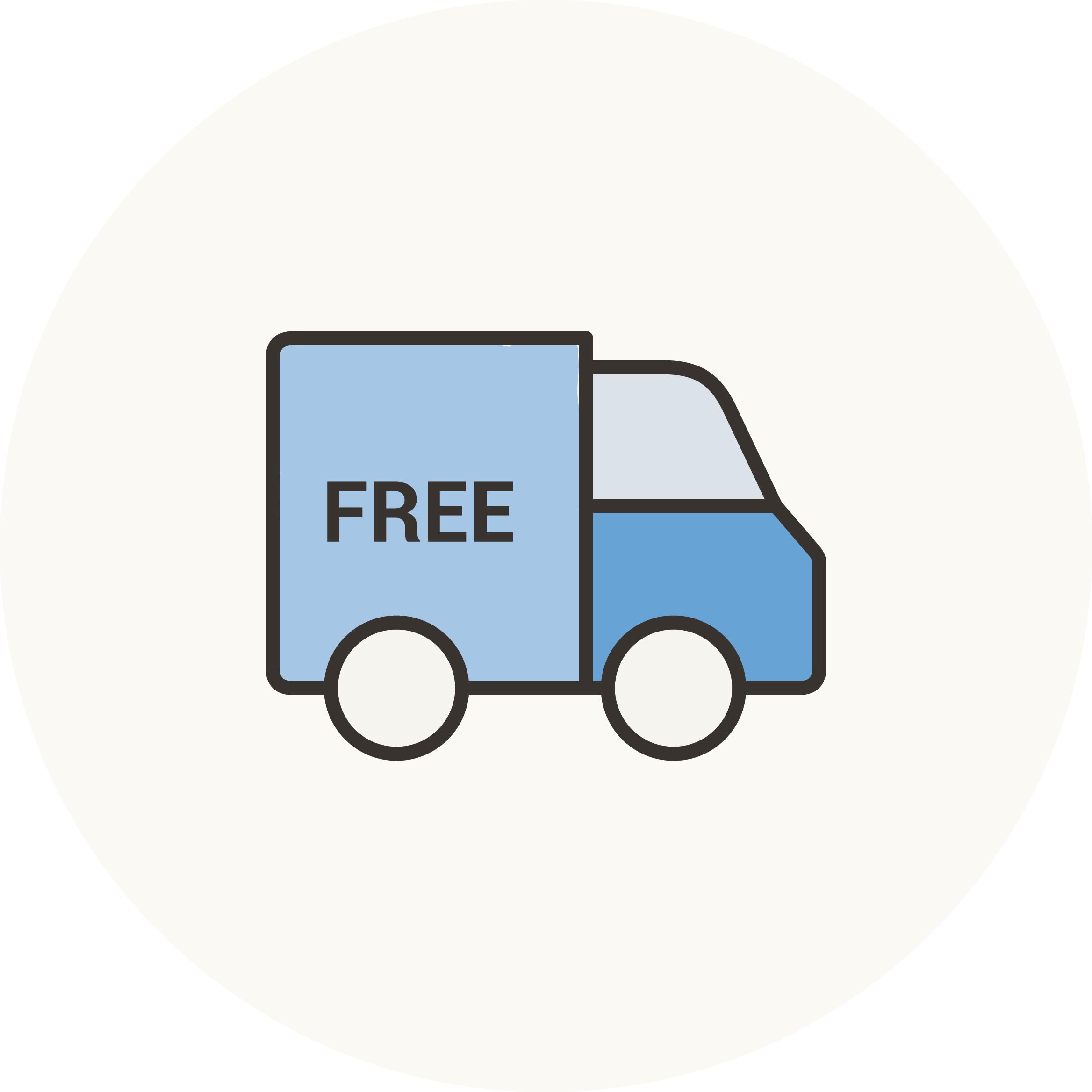 icona furgone con scritta free