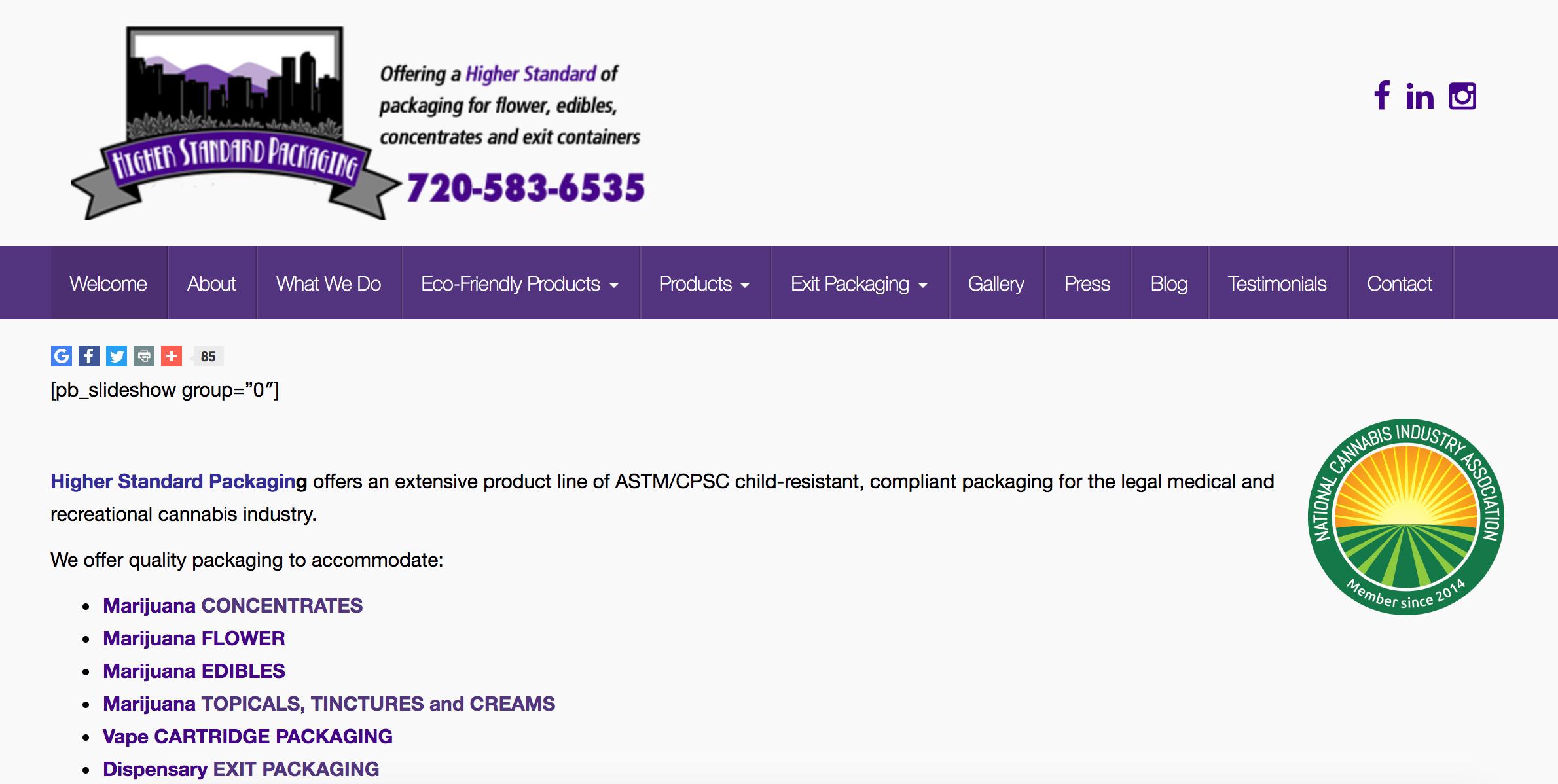 Higher Standard website