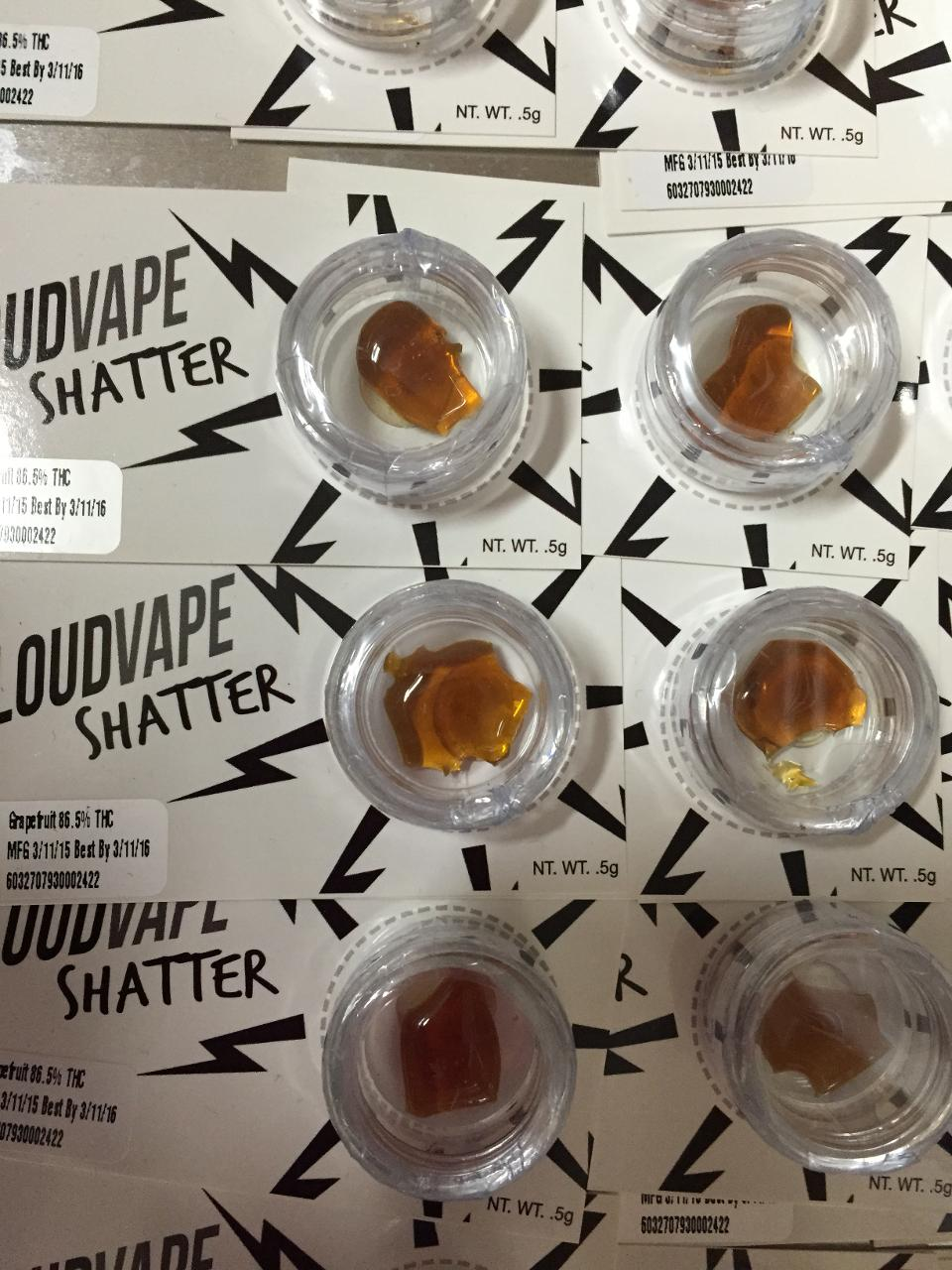 Shatter made by Evergreen Herbal in Seattle