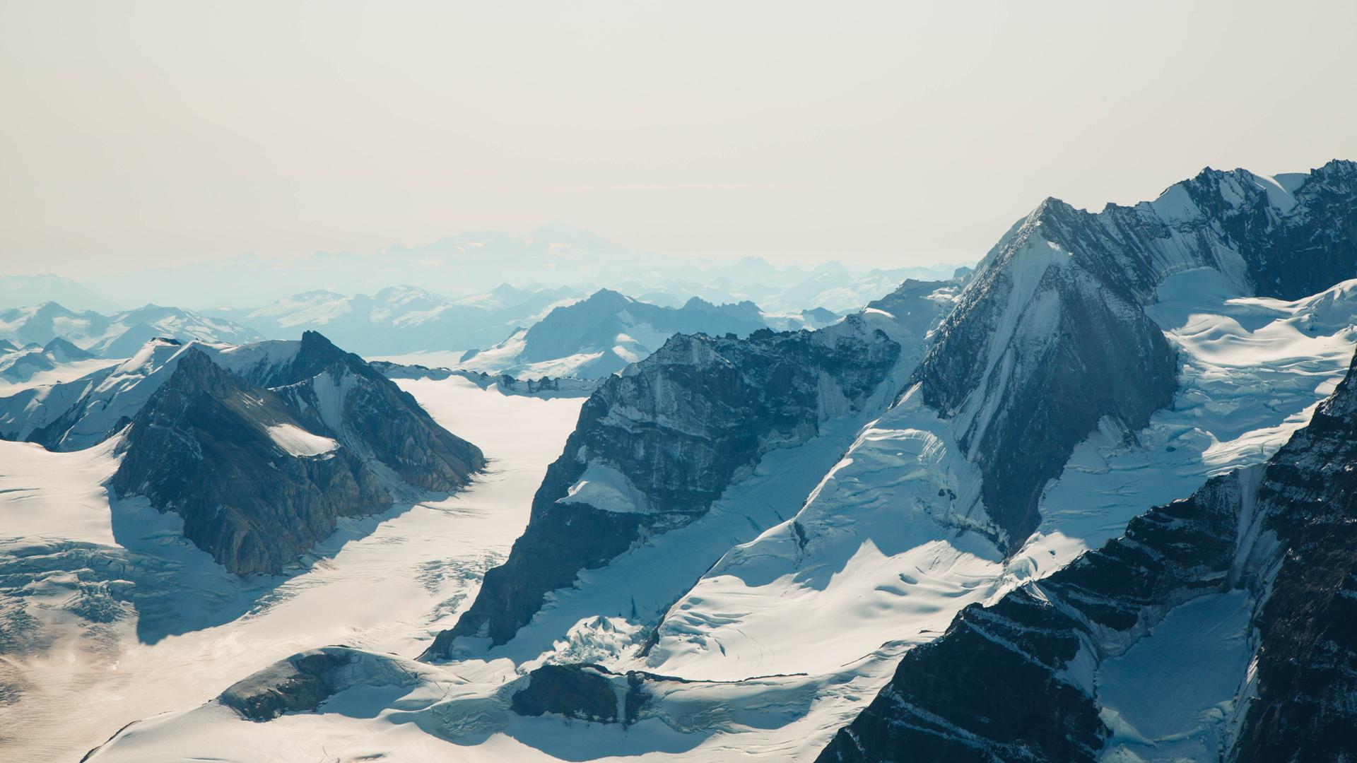 Landscape photo of the Kluane mountain range