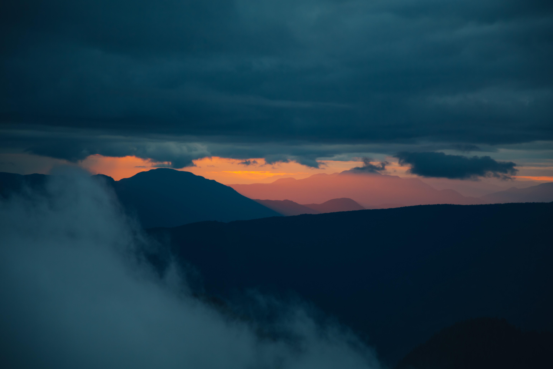 Sunset over the Sunshine Coast, British Columbia, Canada
