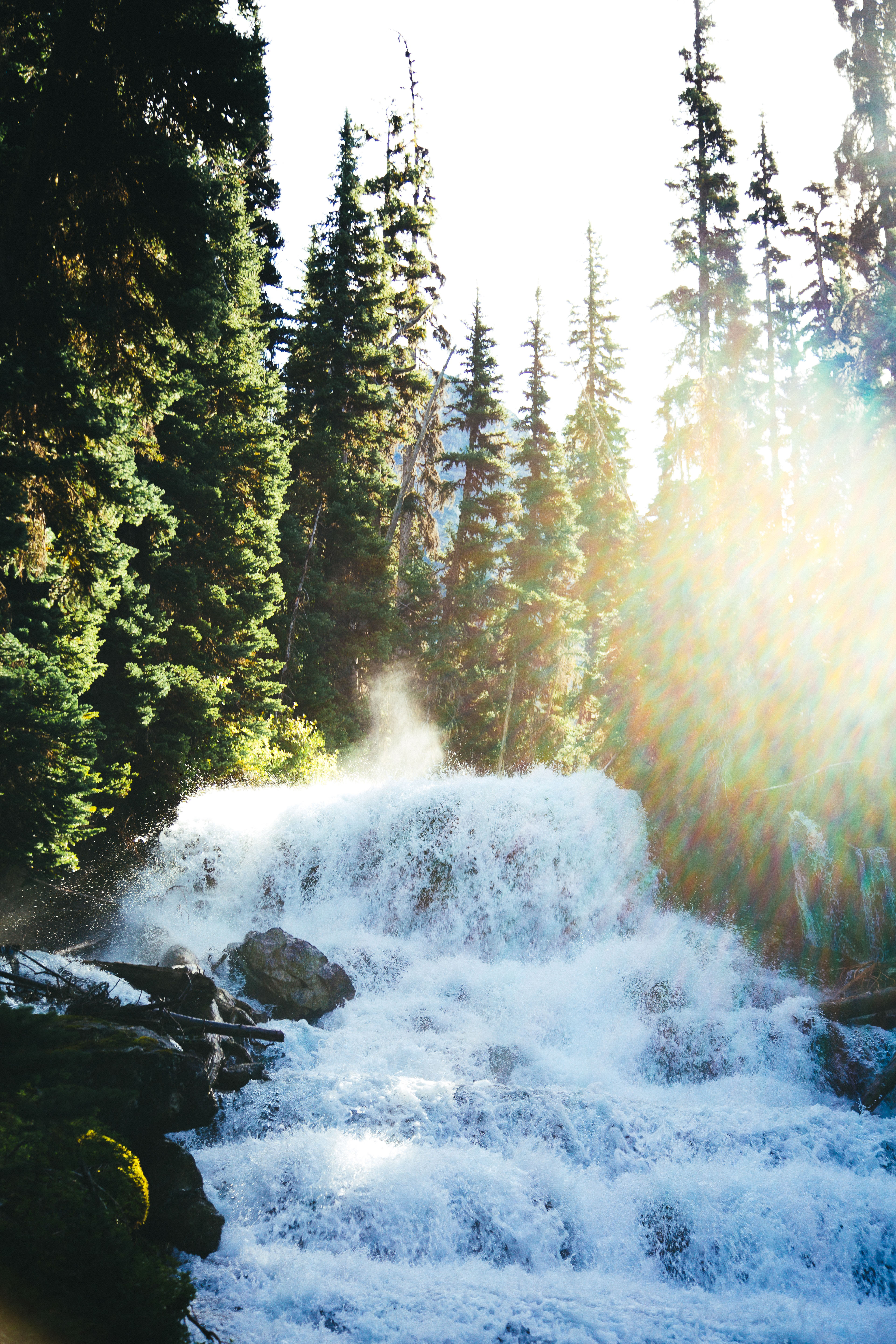 Holloway Falls in Joffre Lakes Provincial Park, British Columbia, Canada.