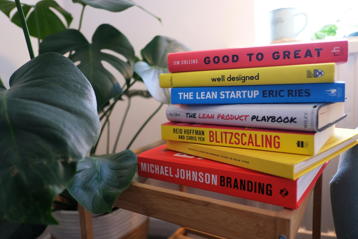 Stack of books about the design standards