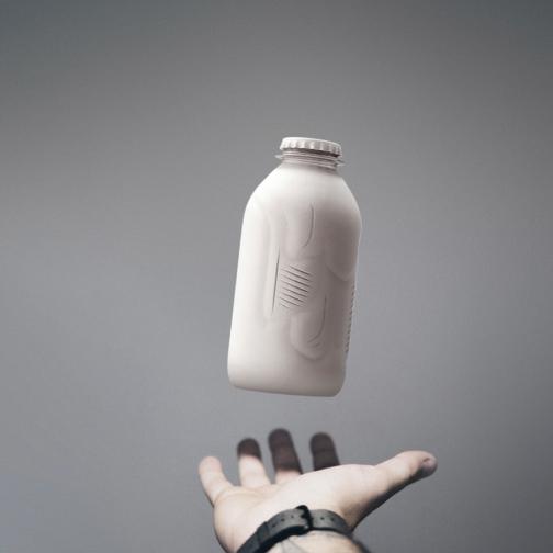 Paboco bottle on hand