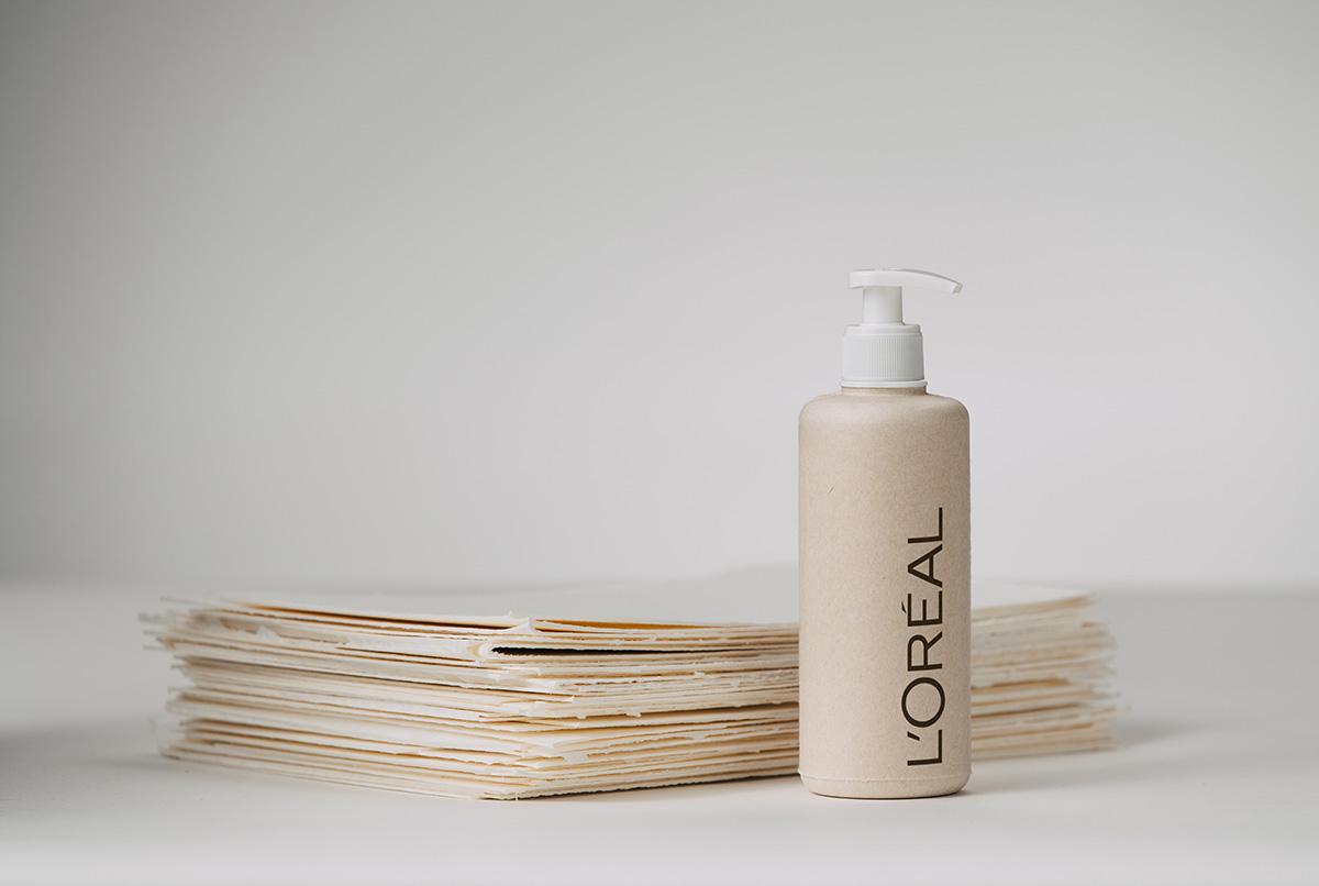 Project L'Oréal paper bottle