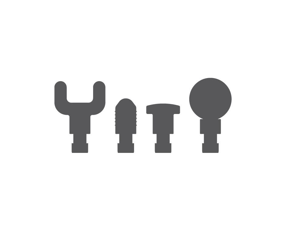 4 Interchangeable attachments icon.