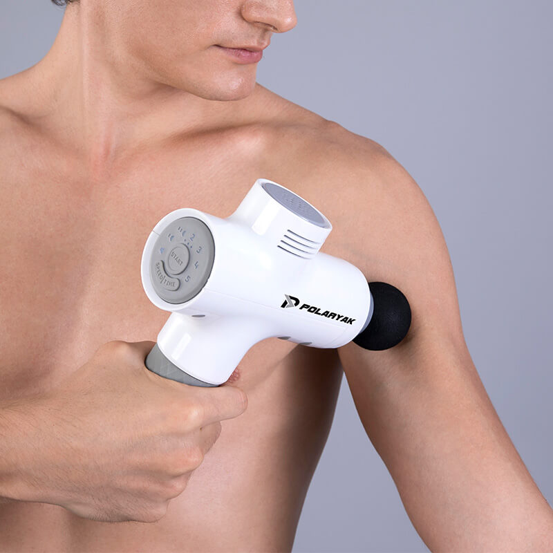 Model using WAVE massage gun.